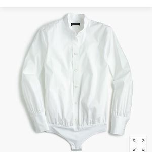 J.Crew Stretch Perfect Bodysuit White Shirt 4